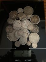 WORLD SILVER COINS SCRAP OR COLLECT 210 GRAMS TOTAL