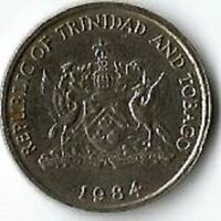 ERROR 25 CENTS TRINIDAD AND TOBAGO 1984. DATE IS DOUBLE DIE.