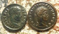 LOT OF TWO CONSTANTINE II AND CRISPUS BOTH 19 20 MM ABOUT VF