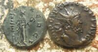 LOT OF 2 CLAUDIUS II AND TETRICUS BOTH VF LARGER IS 20 MM