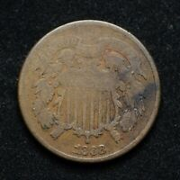 1868 TWO CENT PIECE LIGHTLY CLEANED BB7398