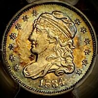 1834 CAPPED BUST HALF DIME PCGS MINT STATE 62