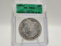 1904-O ICG MINT STATE 63 MORGAN SILVER DOLLAR GREAT EYE APPEAL