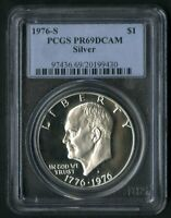 US COIN 1976 S EISENHOWER SILVER PROOF IKE DOLLAR PCGS PR69