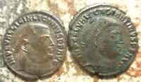 LOT OF 2 ANCIENT ROMANS LICINIUS AND CONSTANTINE OF NICOMEDIA. LARGER IS 24 MM