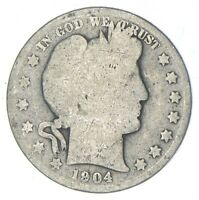 BETTER 1904   US BARBER 90  SILVER HALF DOLLAR COIN COLLECTI