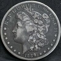 1889 CC MORGAN SILVER DOLLAR VF DETAILS  KEY DATE CARSON CITY COIN