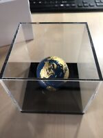 BLUE MARBLE 24K GOLD PLATED EARTH SPHERICAL 3 OZ SILVER COIN