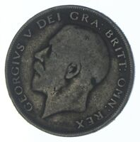 SILVER   WORLD COIN   1921 GREAT BRITAIN 1/2 CROWN   WORLD S