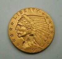 1915 US   $2 1/2 DOLLAR GOLD INDIAN HEAD QUARTER EAGLE COIN