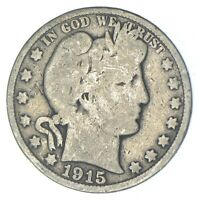 BETTER 1915 S   US BARBER 90  SILVER HALF DOLLAR COIN COLLEC