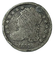 1833 10C CAPPED BUST DIME REPAIRED