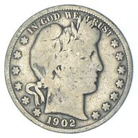 BETTER 1902 S   US BARBER 90  SILVER HALF DOLLAR COIN COLLEC