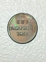 1830 GLASCOW ONE FARTHING COPPER RETAILERS TOKEN