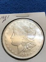 1921 P MORGAN SILVER DOLLAR AU  ABOUT UNCIRCULATED CONDITION