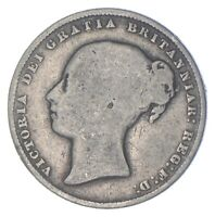 ROUGHLY SIZE OF QUARTER 1865 GREAT BRITAIN 1 SHILLING WORLD