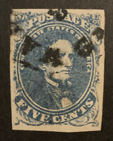 TDSTAMPS: US CONFEDERATE STATES CSA STAMPS SCOTT4 USED TINY THIN