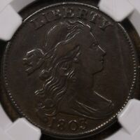 1803 S.254 SD SF LARGE CENT, NGC F15 BN, BROWN & SMOOTH, VF?? DAVIDKAHNCOINS