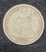 1882 SILVER SEATED LIBERTY DIME  13