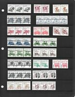 MNH COIL PAIRS STRIPS OF 3 AND 4 SOME WITH PLATE NUMBERS