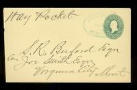 MONTANA POSTAL HISTORY   1890'S RED BLUFF OVAL