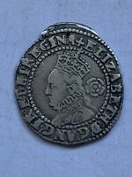ELIZABETH I THREEPENCE SILVER HAMMERED COIN DATED 1579