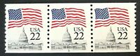 US 2115 FLAG OVER CAPITOL   22C PLATE NUMBER COIL OF 3 STAMP