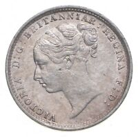 SILVER ROUGHLY SIZE OF DIME 1884 GREAT BRITAIN 3 PENCE WORLD