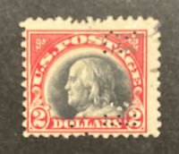 TDSTAMPS: US STAMPS SCOTT547 $2 USED PERFIN