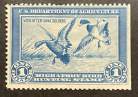 TDSTAMPS: US FEDERAL DUCK STAMPS SCOTTRW1 UNUSED NG LIGHTLY