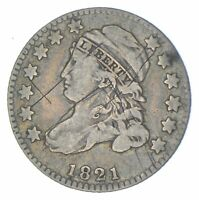 EARLY   1821   CAPPED BUST DIME   EAGLE REVERSE   TOUGH   US TYPE COIN  467