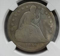1859 S SCARCE DATE LIBERTY SEATED DOLLAR NGC GOOD DETAILS