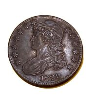 1829 CAPPED BUST HALF DOLLAR,  COLLECTOR SILVER HALF UNCERTIFIED EXTRA FINE  DETAIL