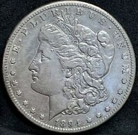 1894 S MORGAN SILVER DOLLAR EXTRA FINE  DETAILS  SAN FRANCISCO MINT COIN BETTER DATE