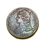 1835 CAPPED BUST HALF DOLLAR BEAUTIFUL HIGH GRADE COIN UNCERTIFIED  TONE