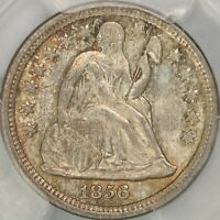 1856 SMALL DATE SEATED DIME PCGS MINT STATE 65