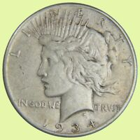 1934-S PEACE SILVER DOLLAR   BETTER DATE - VF/EXTRA FINE    784