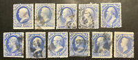 TDSTAMPS: US OFFICIAL STAMPS SCOTTO35 O45  11  USED O35 TEAR