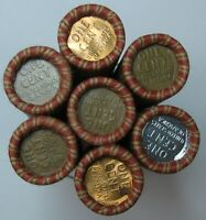 7   UNOPENED ROLLS LINCOLN WHEAT CENT PENNY FROM ESTATE LOT