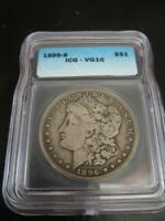 1896-S MORGAN SILVER DOLLAR - GRADED VG10 - AUTHENTIC COIN