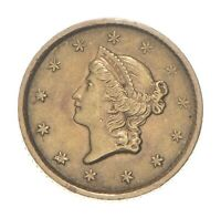 $1 UNITED STATES GOLD COIN   1852 $1 LIBERTY HEAD   HISTORIC