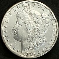 1896 S MORGAN SILVER DOLLAR EXTRA FINE  DETAILS SAN FRANCISCO MINT COIN BETTER DATE