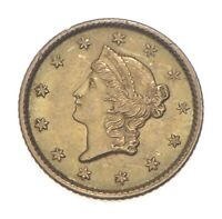 $1 UNITED STATES GOLD COIN   1853 $1 LIBERTY HEAD   HISTORIC