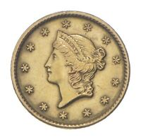 1849 $1 LIBERTY HEAD GOLD DOLLAR   CHARLES COIN COLLECTION