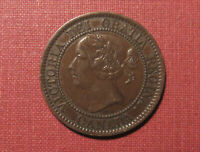 1858 CANADA LARGE CENT    DATE FIRST YEAR ISSUE IN