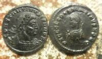 LOT OF 2 COINS BOTH NEAR EF FOR TYPE & 19 MM CONSTANTINE II AND CONSTANTIUS II