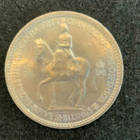 RARE 1953 5 SHILLING COLLECTABLE COIN IN CASE VINTAGE & UNCI