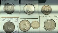 GREAT BRITAIN & COLONIAL LOT OF 7 FLORINS/SHILLINGS INCL.KEY