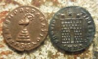 LOT OF 2 ANCIENT ROMANS RATED EF BY PAST DEALER CONSTANTINE II & CONSTANTIUS II