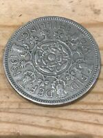 COIN 1961 TWO SHILLING PIECE/FLORIN.  ELIZABETH 2ND.